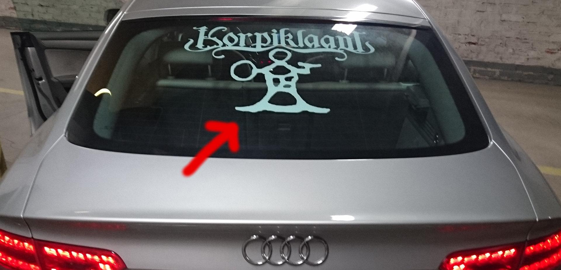 Symbol car sticker korpiklaanis folk metal shop