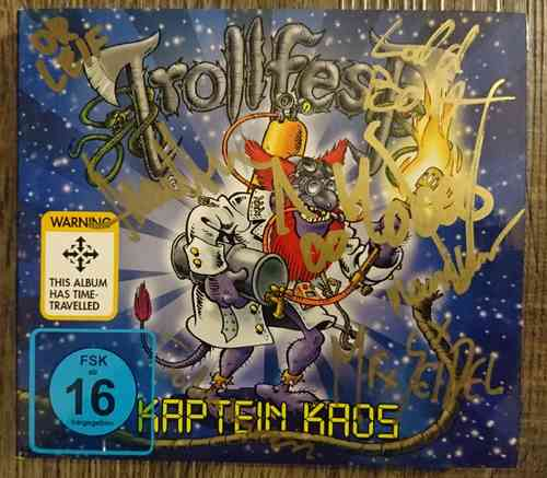 Signed Trollfest Kaptein Kaos cd/dvd digipak