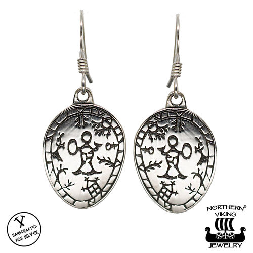 Northern Viking Jewelry® Korpiklaani Shaman Drum Earrings