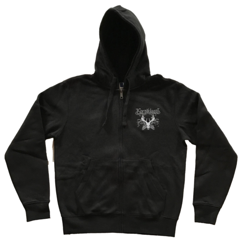 Skull zipper hoodie, full embroidered