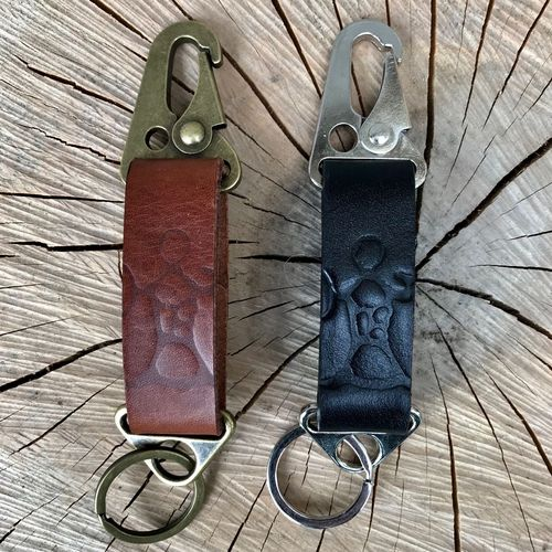 Leather Folk & Metal Key Clip